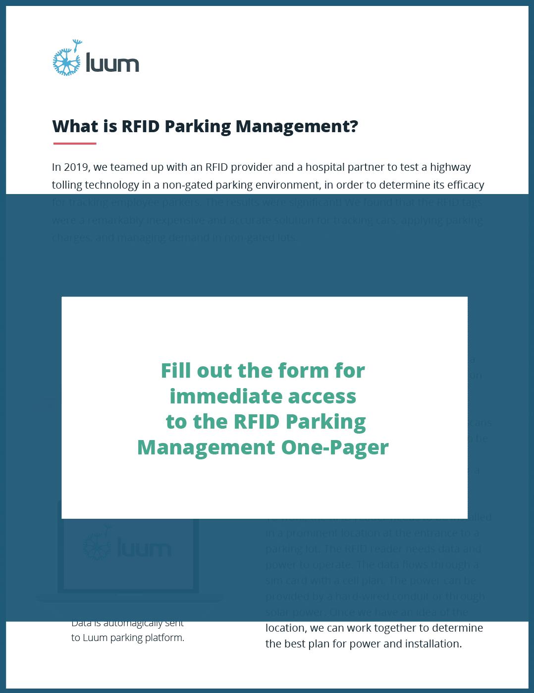 RFID Parking Solution