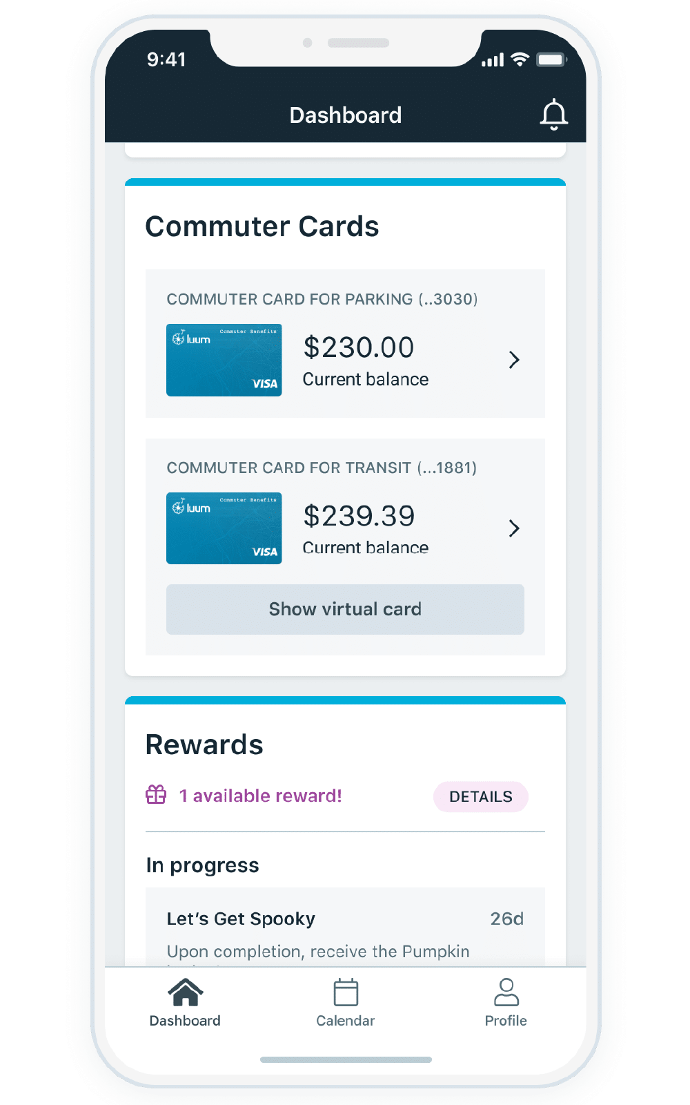 Commuter Card Widget